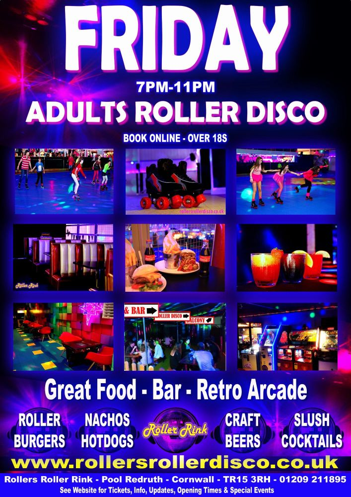 Friday Adults Roller Disco Cornwall 2020
