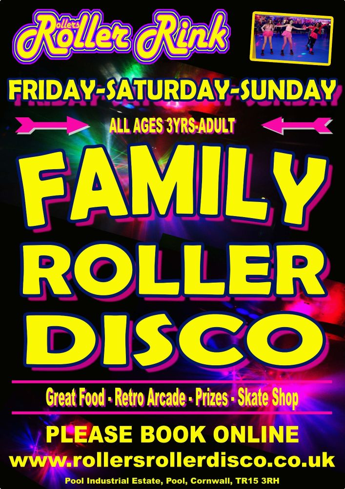 Family Roller Disco Roller Disco Cornwall December 2020