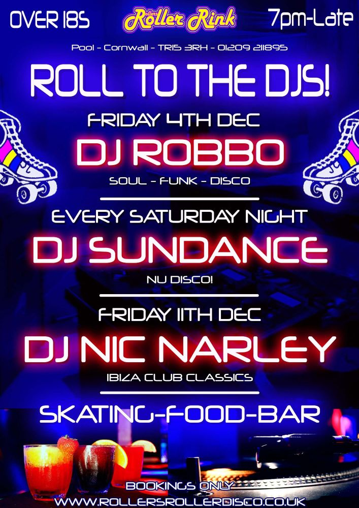 Roll to the Djs Cornwall Roller Disco Dec 2020