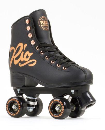 Rio Roller Rose Quad Skates - Black