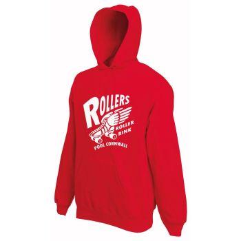 Rollers Pool Cornwall - Kids Red Skate Hoody 9-11yrs