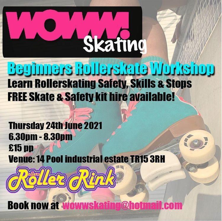 Woww Roller Skate Workshop at Rollers Roller Rink Cornwall