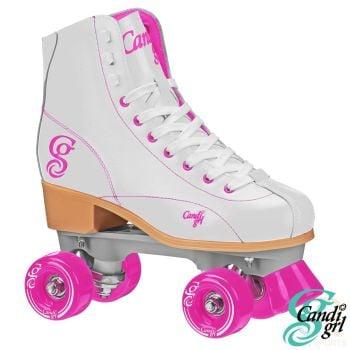 Candi Grl-Sabina Roller Skates - White-Pink