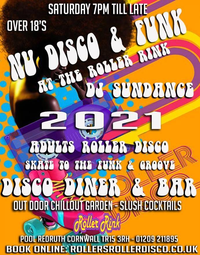 Nu Disco and Funk Every Saturday at the Skating Rink Cornwall 2021