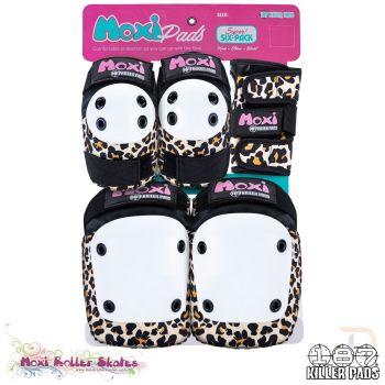 Triple 8 187 Killer Pads Six Pack Combo Protection - Moxi Leopard