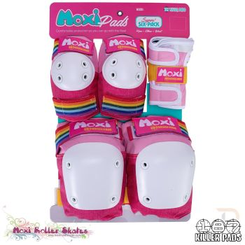 Triple 8 187 Killer Pads Six Pack Combo Protection - Moxi Pink