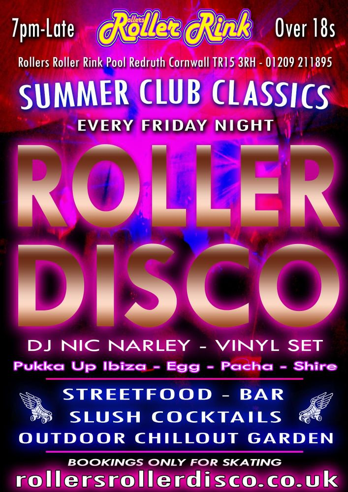 Summer Club Classics Skate Every Friday at the Roller Rink Cornwall 2021