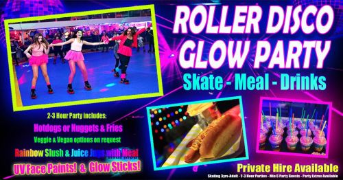 Roller Disco Neon Glow Skate Party Cornwall 2021