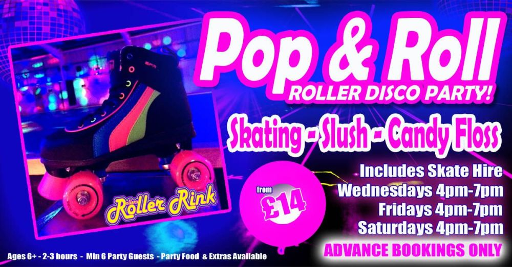 Roller Disco Pop and Roll Skate Party Summer 2021 Cornwall