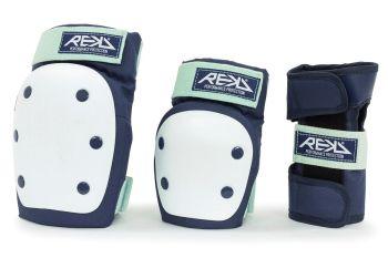 REKD Heavy Duty Adult Pad  Set - Knee, Elbow & Wrist Guards- Blue/Mint