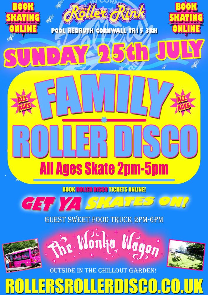 Family Roller Disco Sunday 25th July 2021