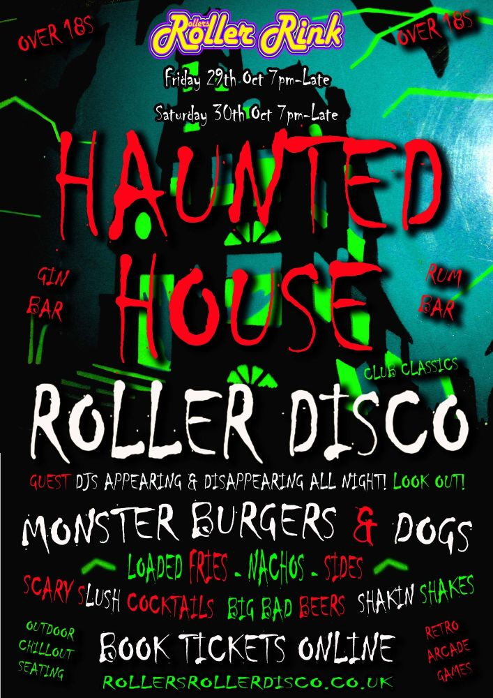 Haunted House Roller Disco Night at the Rink Cornwall 2021