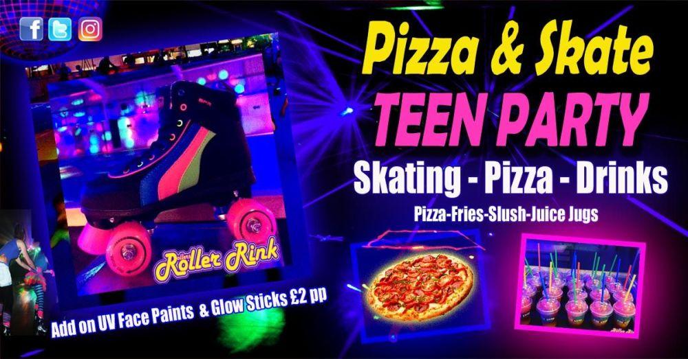 Roller Disco Teen Pizza Party 21 22