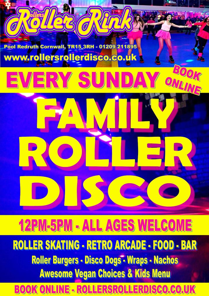 Every Sunday Roller Disco Cornwall 2021