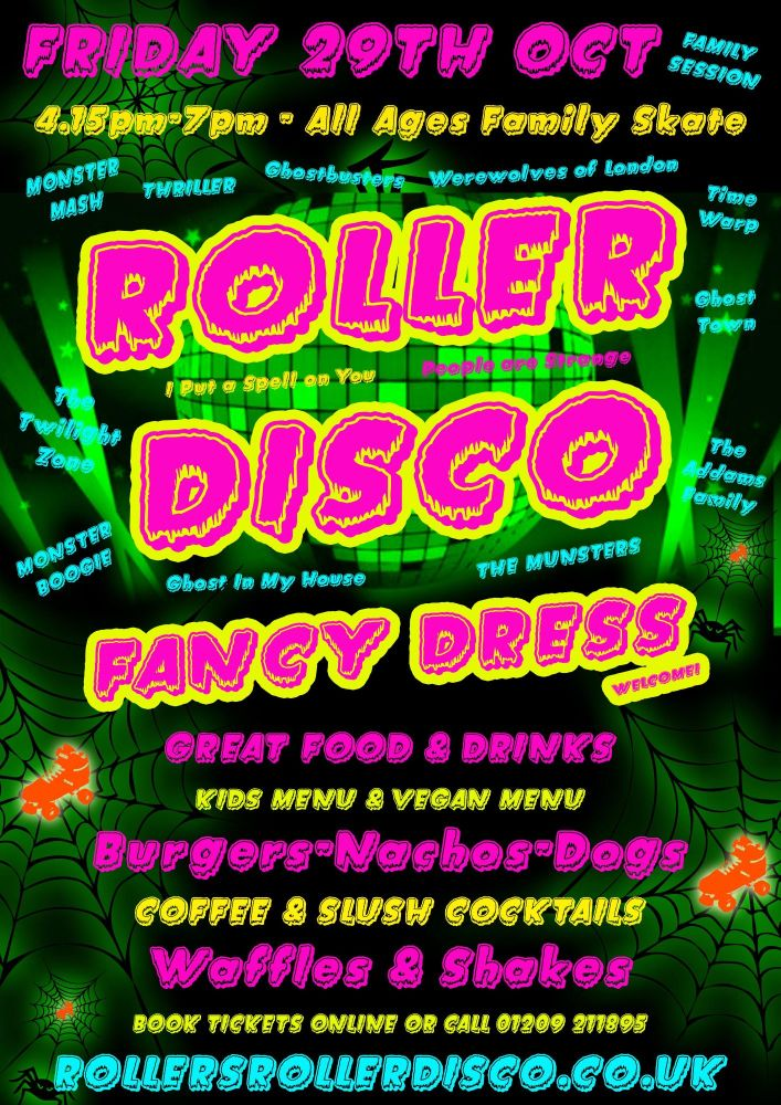 Halloween Family Roller Disco Friday 29th Oct 2021