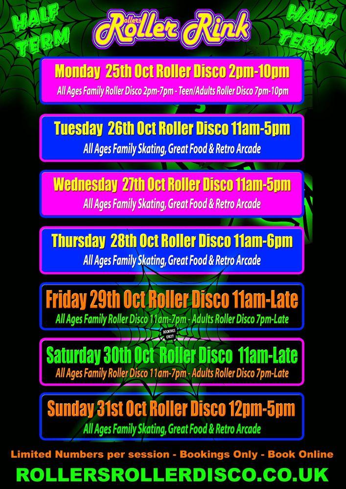 Half Term Roller Disco Cornwall 2021