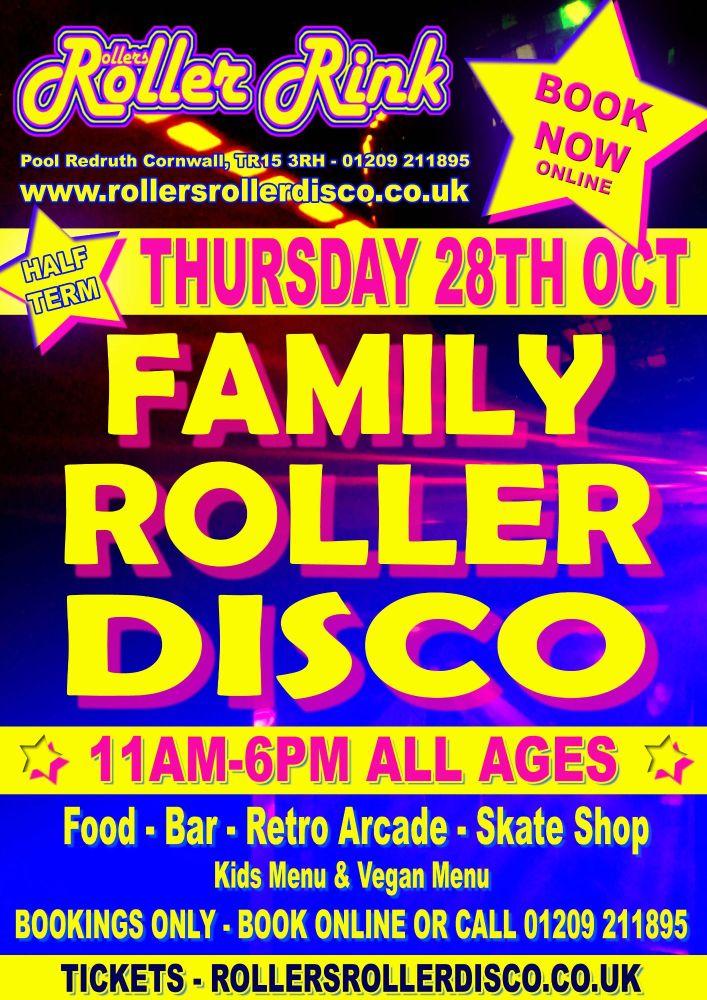 Thursday 28th Oct Roller Disco Cornwall 2021