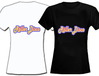 Rollers Roller Disco Womens Fitted T Shirt 8-18