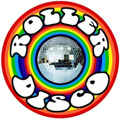 Roller Disco Rainbow Mirror Ball Iron on T Shirt Transfer
