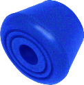 Roller Skate Toe Stoppers for Quad Roller Skates (pair) Blue