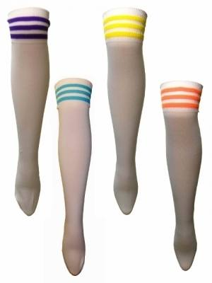 Retro Roller Disco Sports Stripe Over The Knee Socks