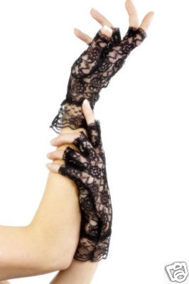 Lace Fingerless Gloves 1980's Madonna Style