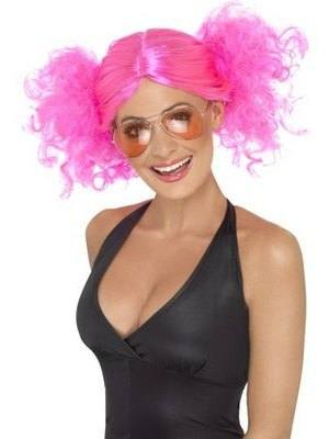 80s Roller Girl Bunches Style Wig