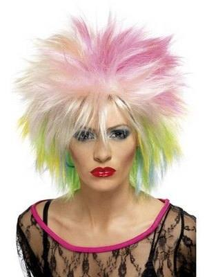 80s Cute Punk and Band Style Wig