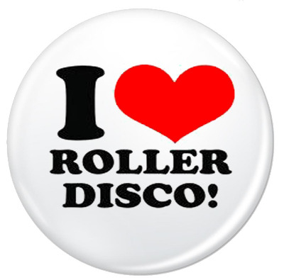 I Love Roller Disco Pin Button Badge 38mm