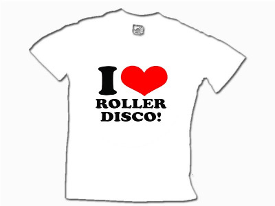 Kids I Love Roller Disco T Shirt 5yrs-13yrs