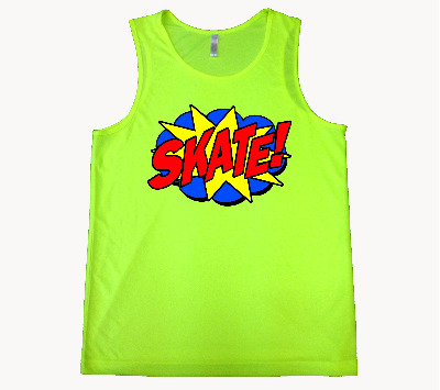 Mens Skate! Vest Neon Yellow S-XXL