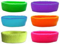1980s Style Toweling Neon Headband
