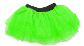 80s Fancy Dress Four Layer TUTU Neon Green (M 8-14)