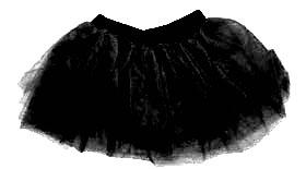 80s Fancy Dress Tutu - Black (M 8-14)
