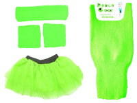 80s Neon Tutu, Leg Warmers, Sweatbands & Headband Various Colours