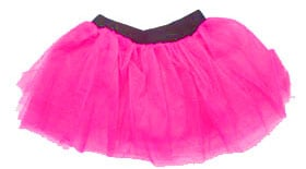 Childrens 80s Fancy Dress Tutu - Neon Pink