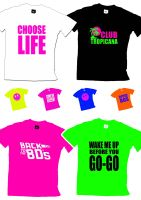 Childs 80s Slogan T Shirt - Any Slogan - Any Colour - Age 3yrs-13yrs