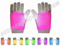 80s Short Mesh Gloves in Various Neon Colours