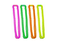 Plastic Neon Beaded Necklace - Various Neon Colours