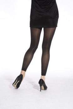 80's BLACK Footless Tights
