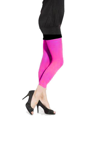 80's Neon PINK Footless Tights