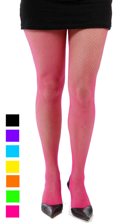 Neon Fishnet Tights