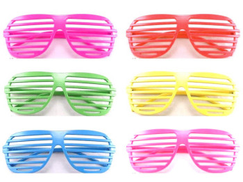 80s Shutter Shades Sunglasses Various Colours