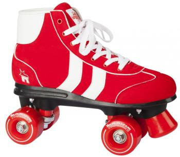 Rookie Retro Red & White Roller Skates Size UK 2 -8