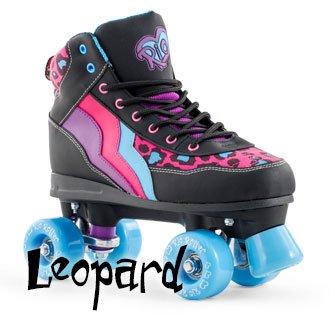 Rio Roller Leopard Black Roller Skates 12j-8