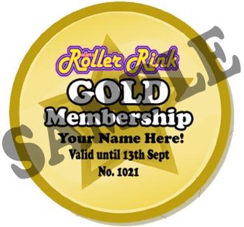Rollers Roller Rink Membership Card