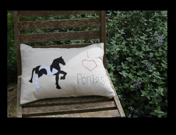 jennifer rogers pony cushion