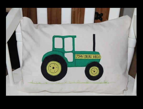 jennifer rogers tractor cushion