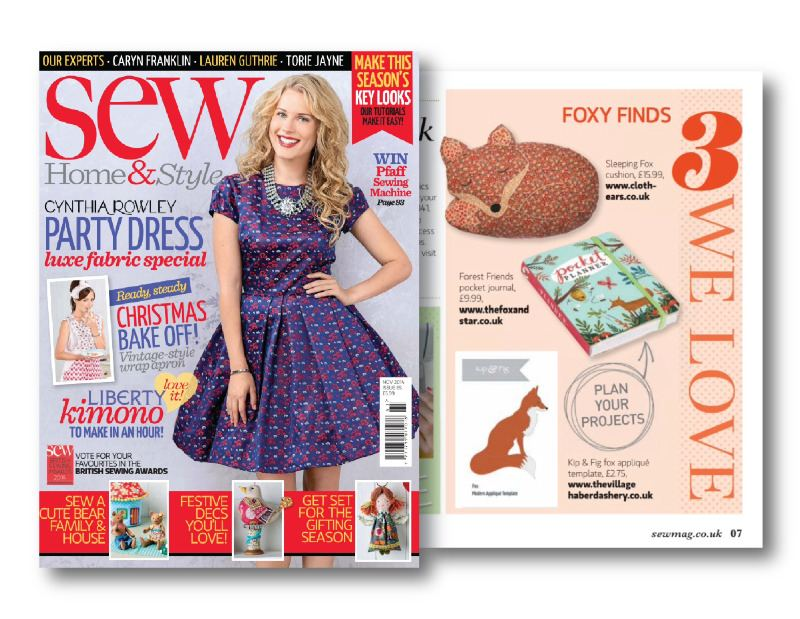 Sew Home and Style magazine nov 2014
