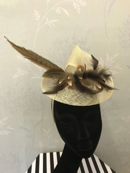 Bespoke fascinator with pheasant feathers